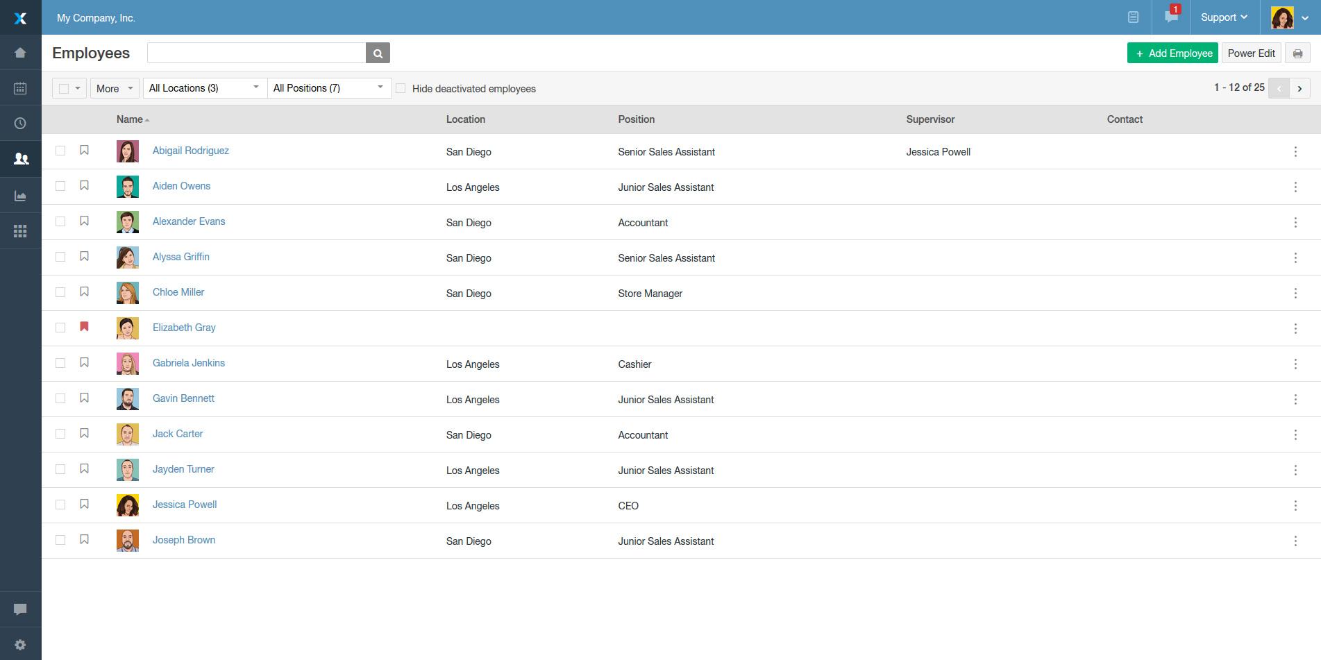 Ximble Demo - Manage Employee Profiles