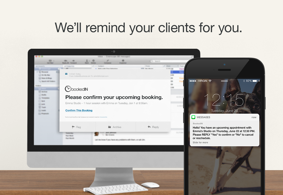 BookedIN Demo - Email & Text / SMS Reminders