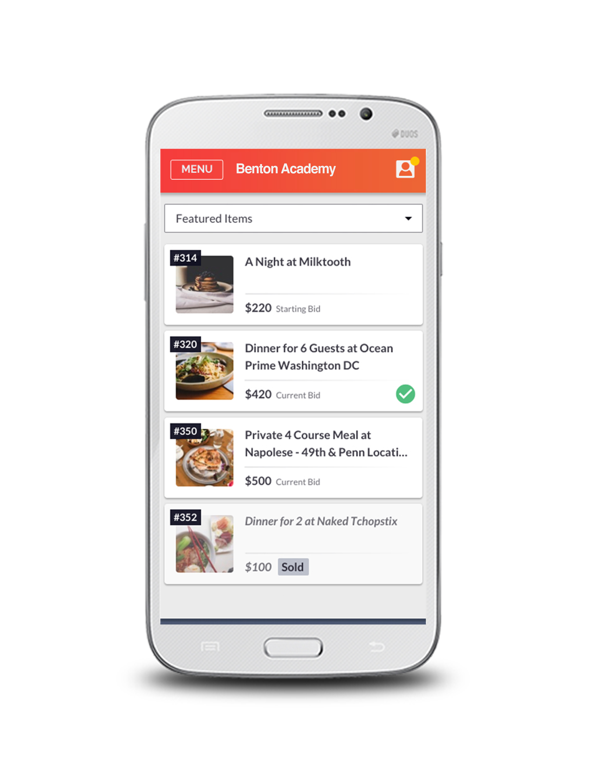 OneCause, formerly BidPal Demo - Mobile Bidding