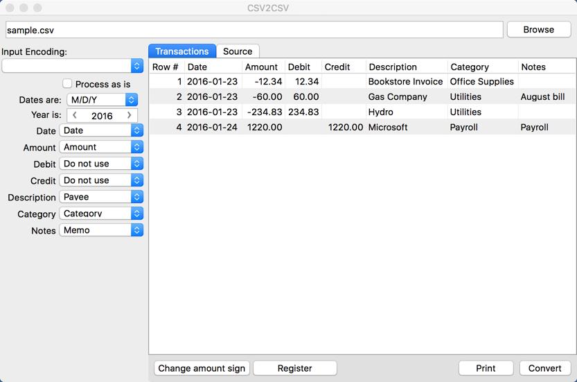 CSV2CSV (CSV to CSV Mint/QB Online/Xero Converter) Reviews
