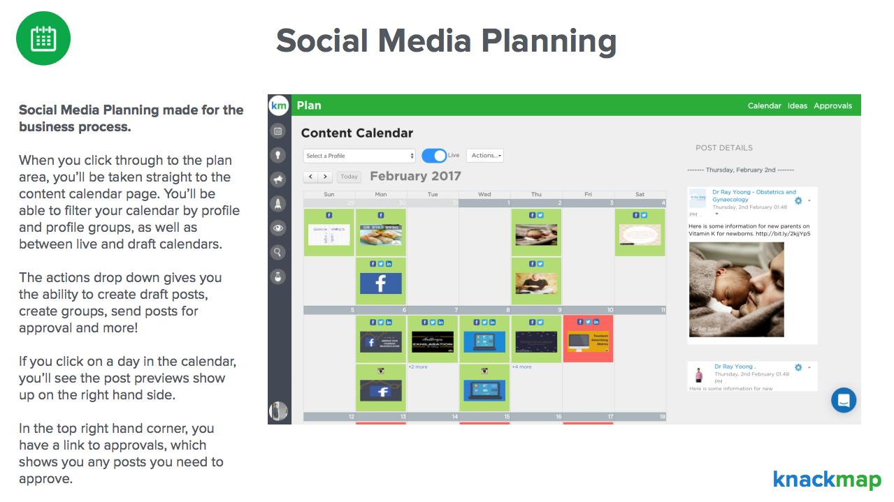 Knackmap Demo - Social Media Planning