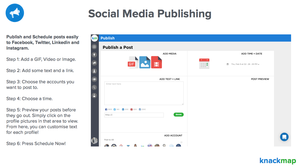 Knackmap Demo - Social Media Publishing