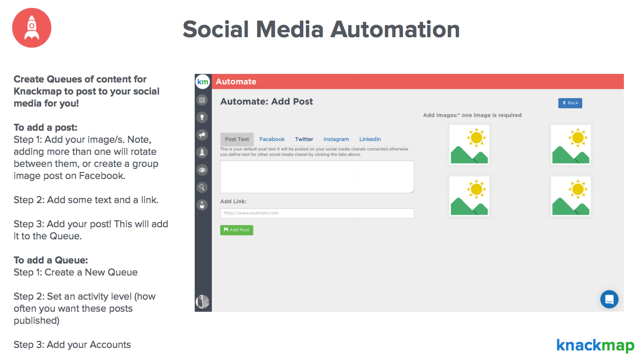 Knackmap Demo - Social Media Automation