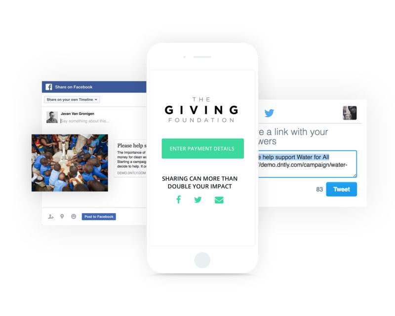 Donately Demo - Easy Social Sharing