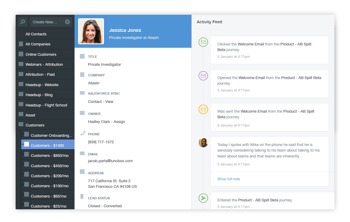 Autopilot Demo - Centralize and organize your contacts