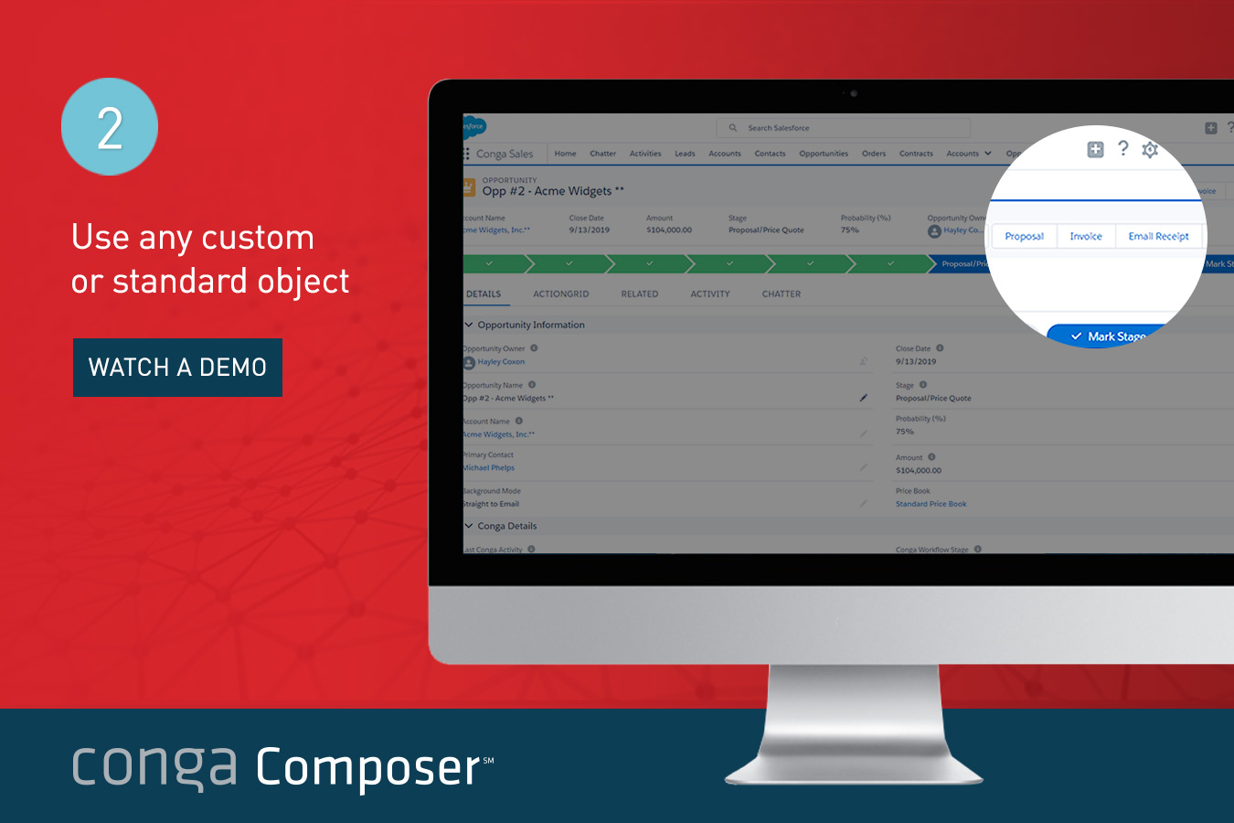 Conga Composer Demo - Custom or Standard Objects