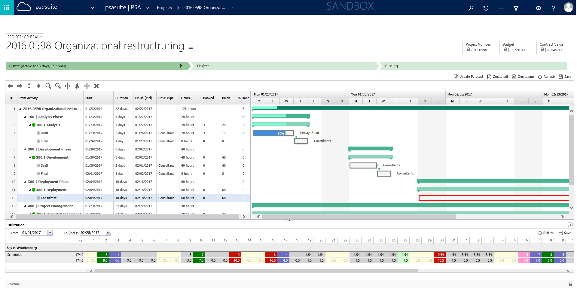 Unit4 PSA Suite Demo - Resource Planning