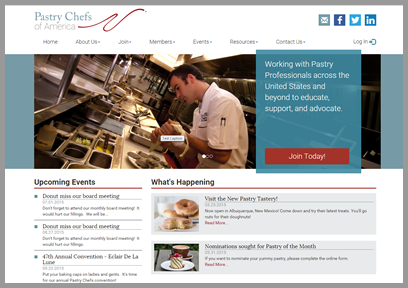 MemberLeap Demo - Pastry Chefs of America