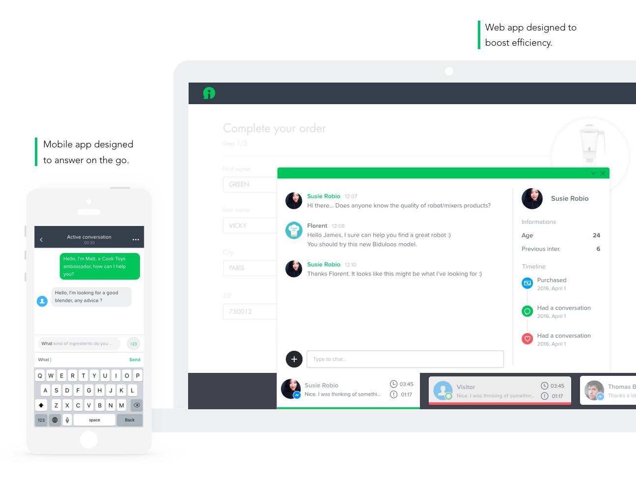 iAdvize Demo - Agent interface