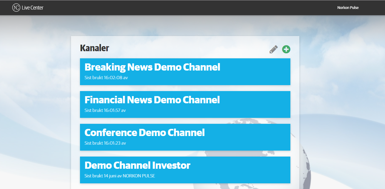 Live Center Demo -  Live Center channels allows you to easily post news to the relevant outlets to drive reader engagement