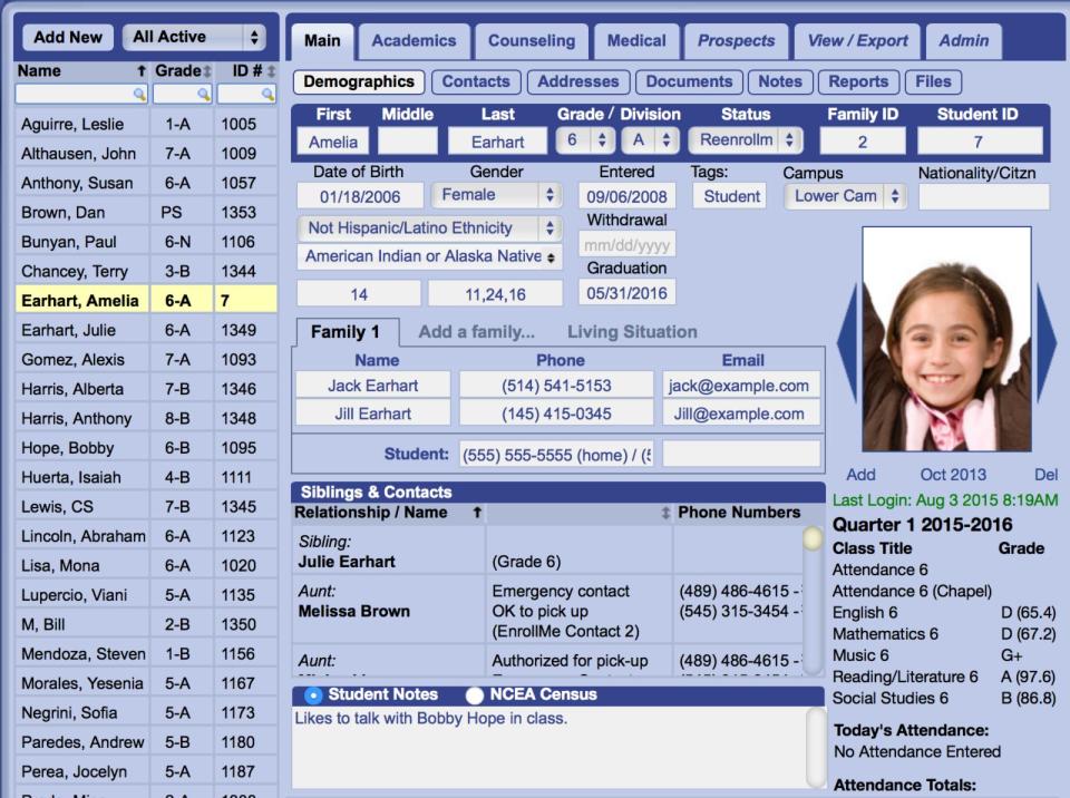 Gradelink Demo - Gradelink-Student-Information.png