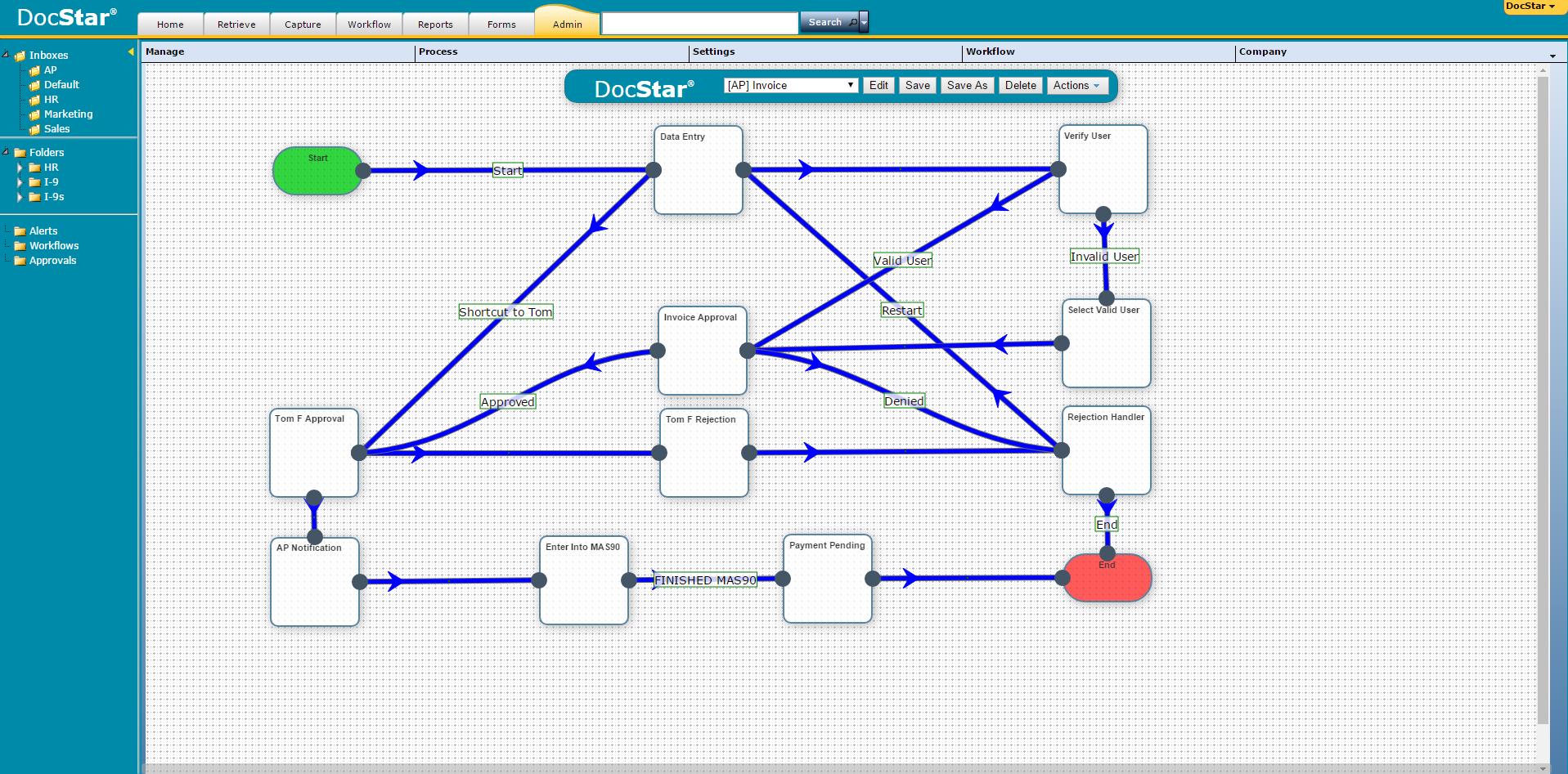 DocStar ECM Demo - DocStar ECM Workflow Designer