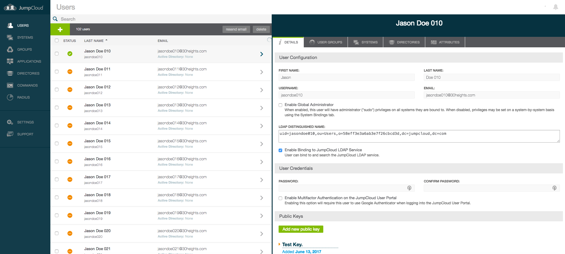 JumpCloud Directory-as-a-Service Demo - JumpCloud - Screenshot 3
