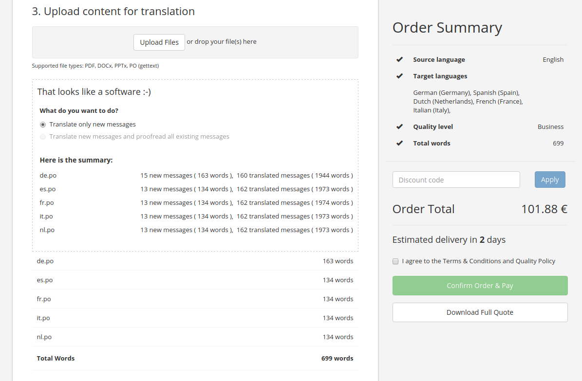 Localization Guru Demo - PO files (gettext) support