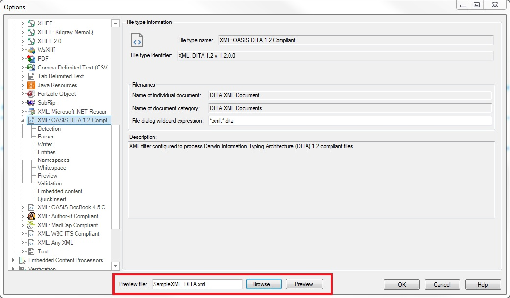 SDL Trados Studio Demo - File Type Preview in SDL Trados Studio 2017