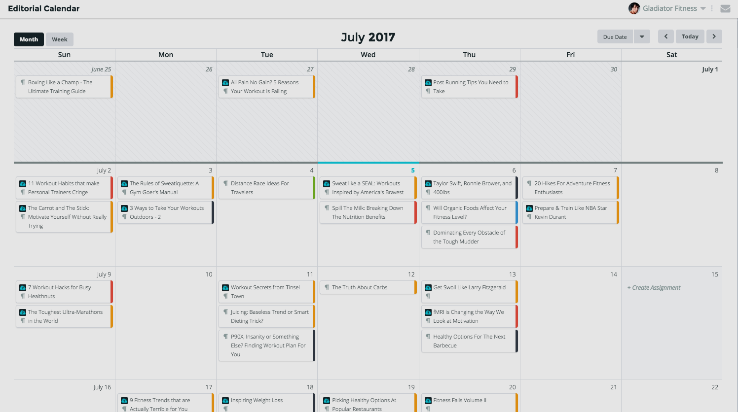 ClearVoice Demo - ClearVoice Editorial Calendar