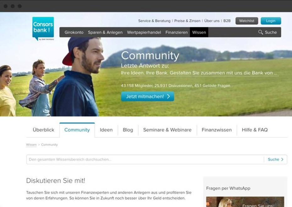 Lithium Communities Demo - Consorsbank Community
