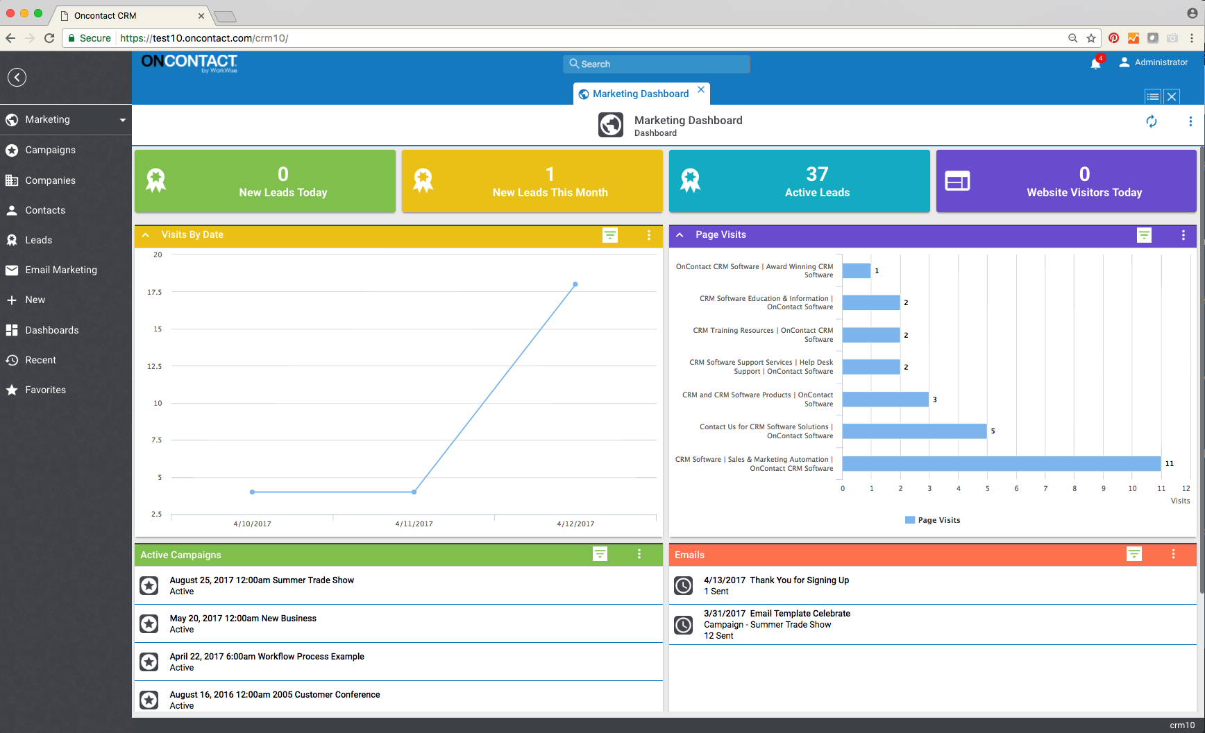 Oncontact Demo - Website Visitors Tracking