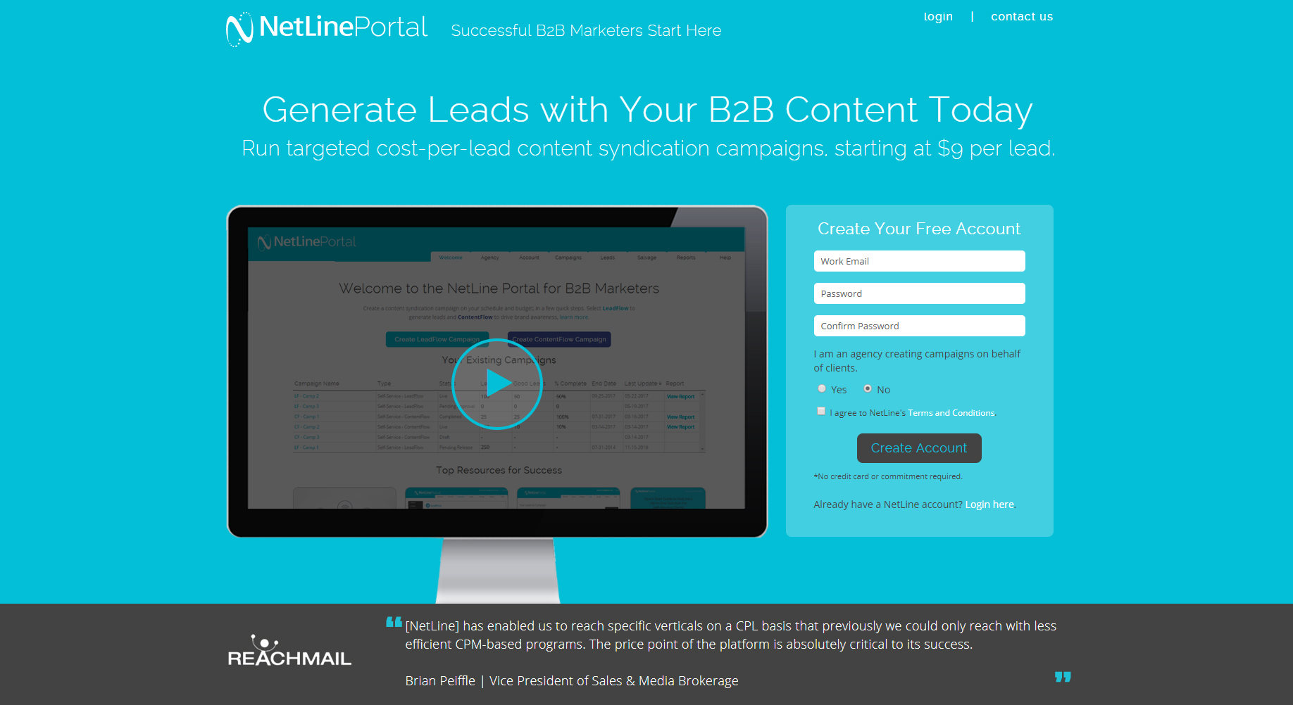 NetLine Corporation Demo - Generate Leads with Your B2B Content using NetLine Portal