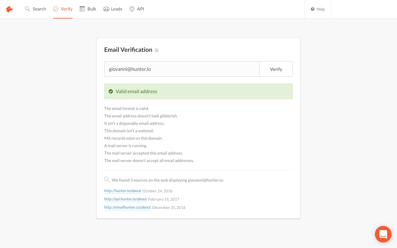 Hunter Demo - Hunter_verificationpng