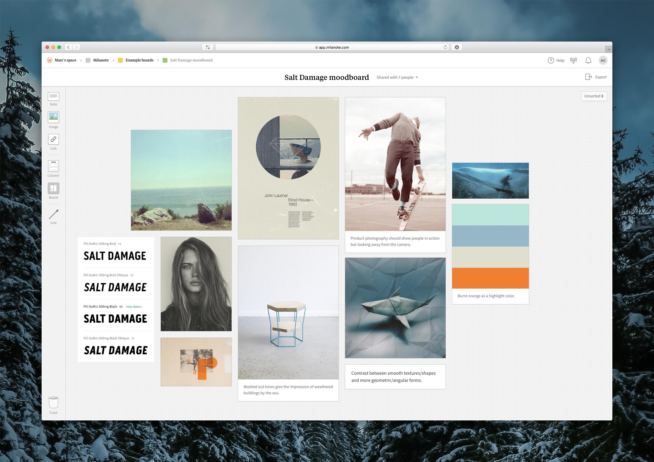 Milanote Demo - Creating a Moodboard