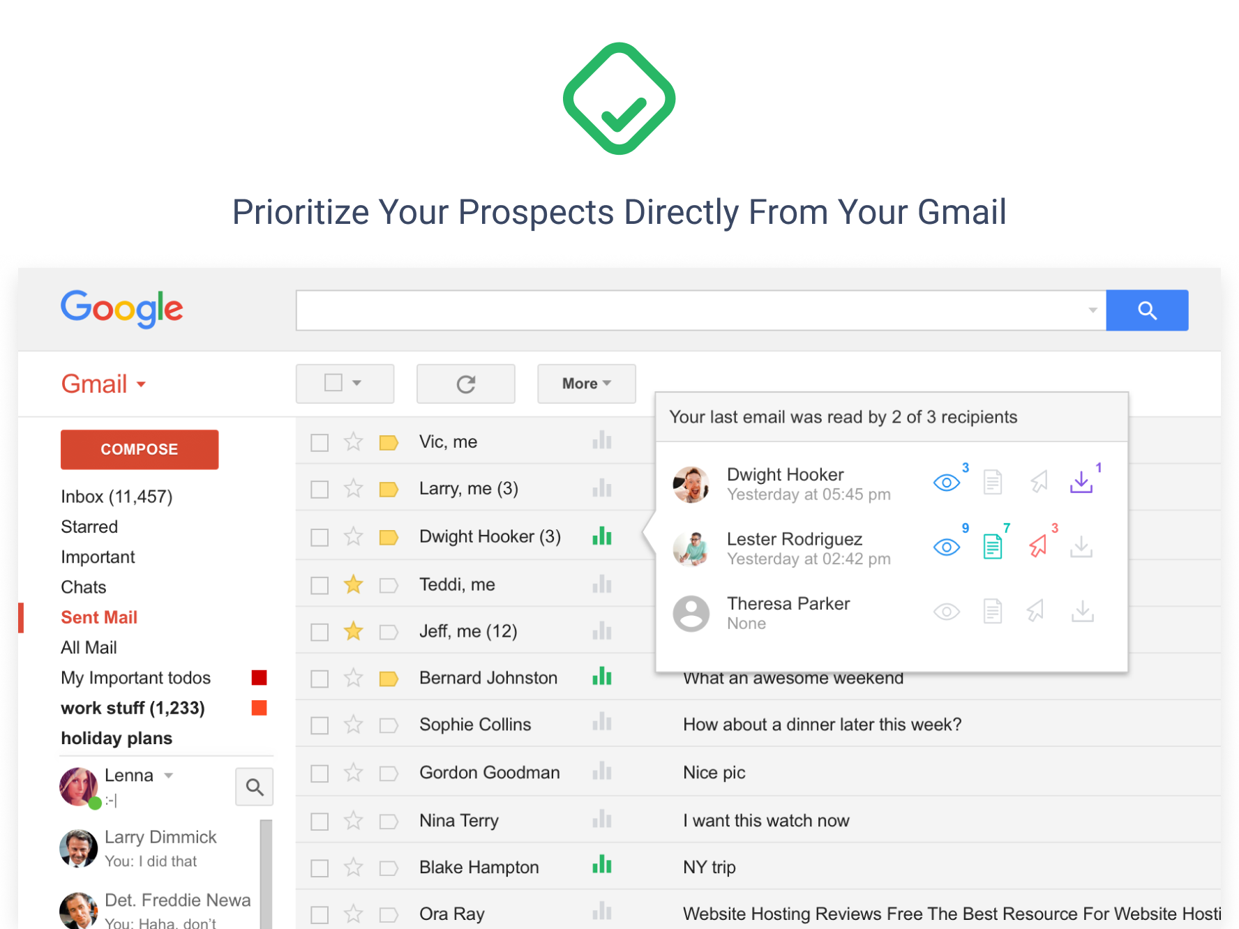 Docsify Demo - Prioritize Your Prospects Directly From Your Gmail