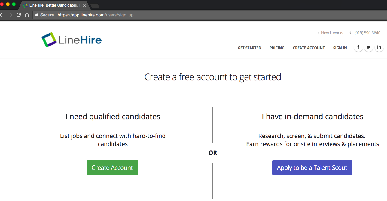 LineHire Demo - LineHire's Talent Marketplace