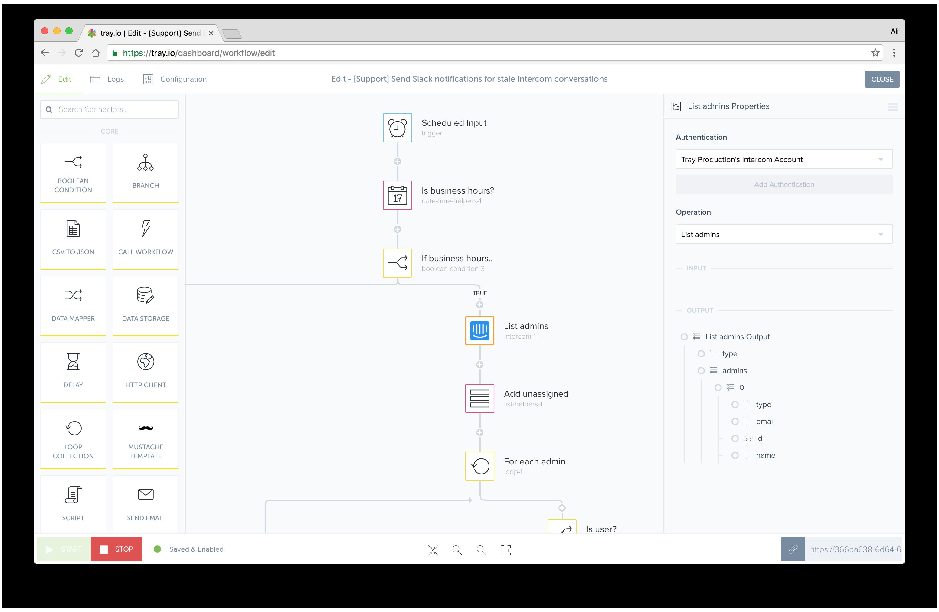 Tray.io Demo - Intercom-Workflow.png