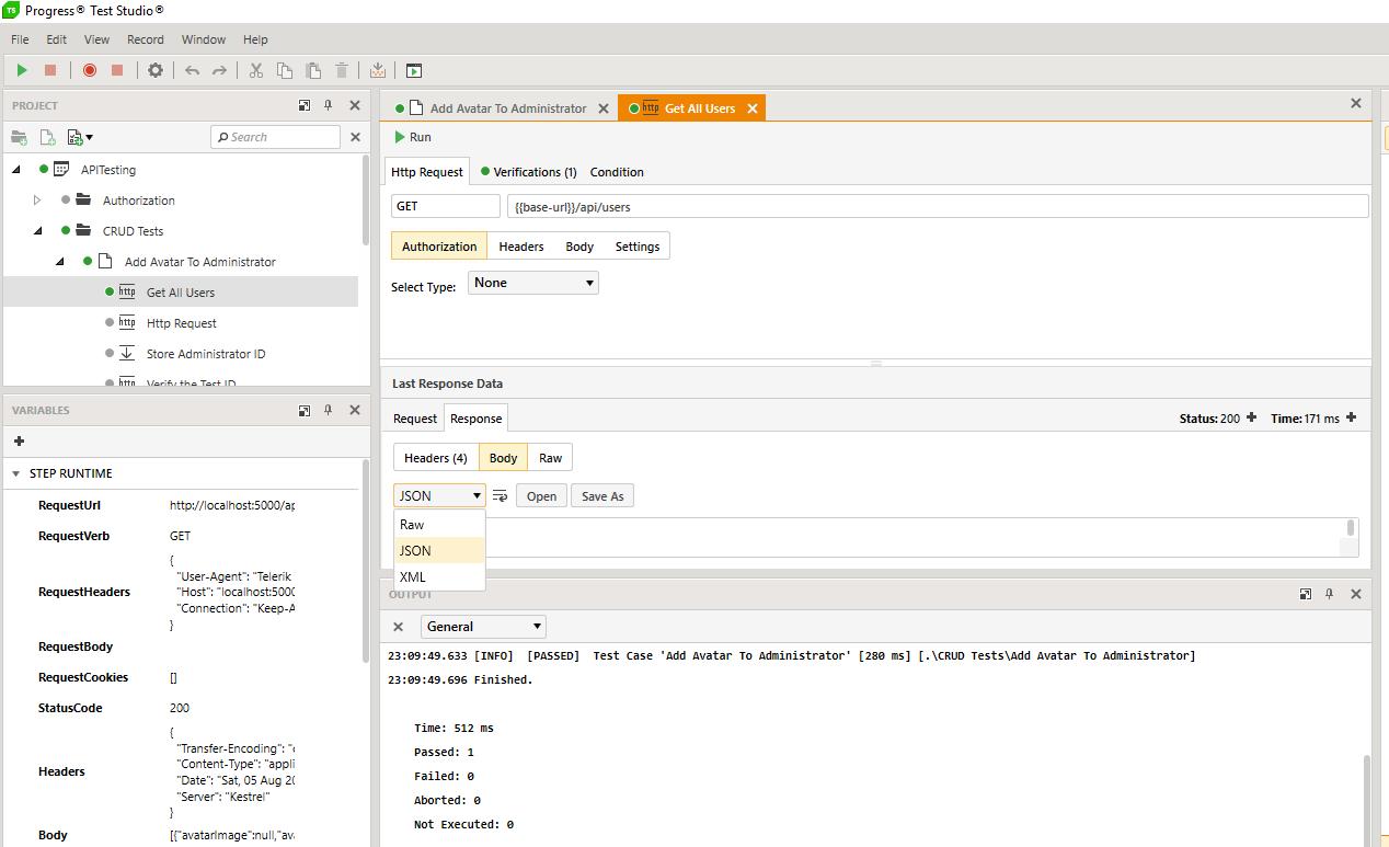 Telerik Test Studio Demo - Test Studio for API's