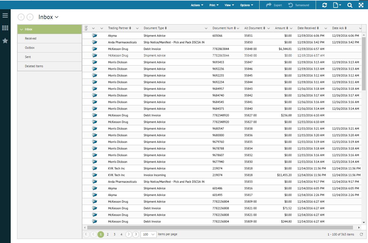 TrueCommerce EDI Demo - EDI Translator Inbox