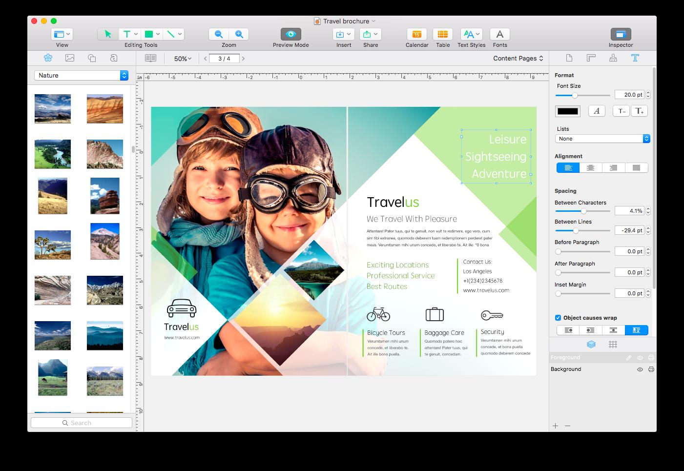 Swift Publisher Demo - Main window