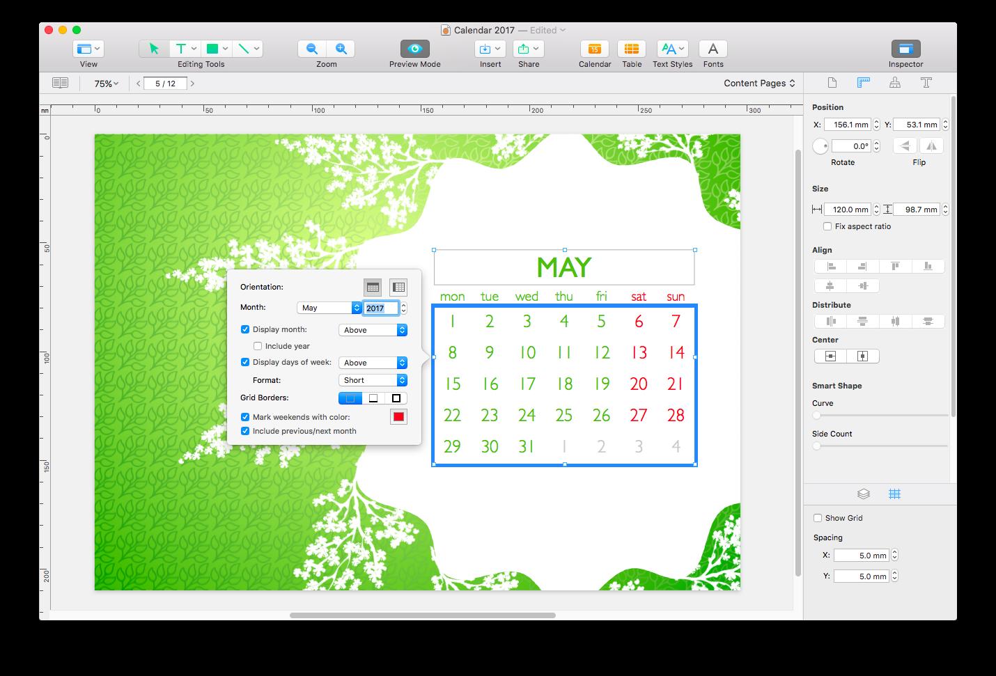 Swift Publisher Demo - Calendars