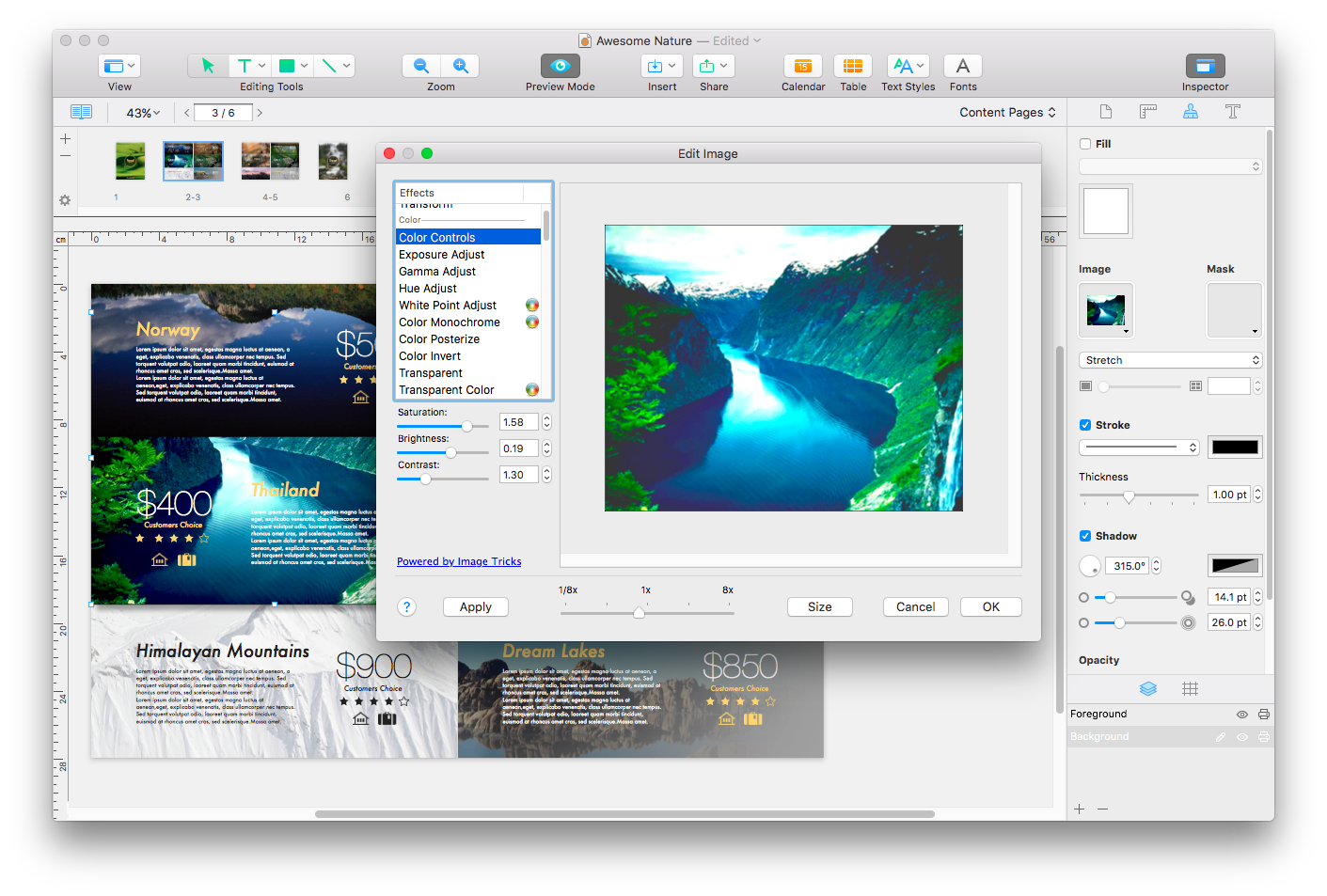Swift Publisher Demo - Photo effects