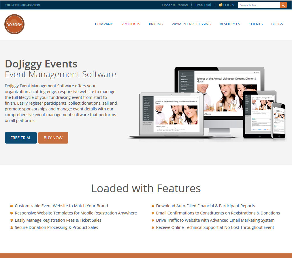 DoJiggy Events Demo - DoJiggy Events Pro