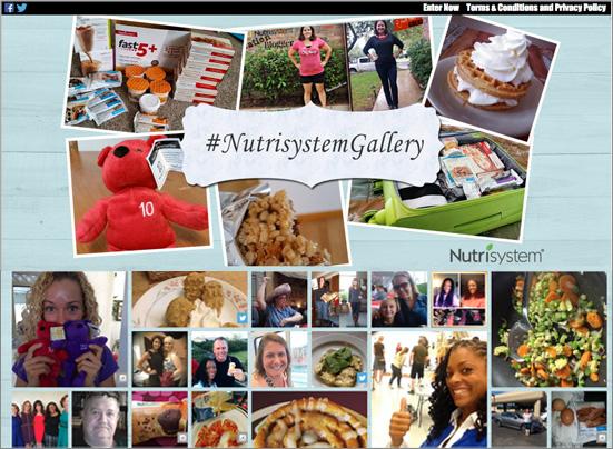 Votigo Demo - Nutrisystem UGC Experiences Gallery
