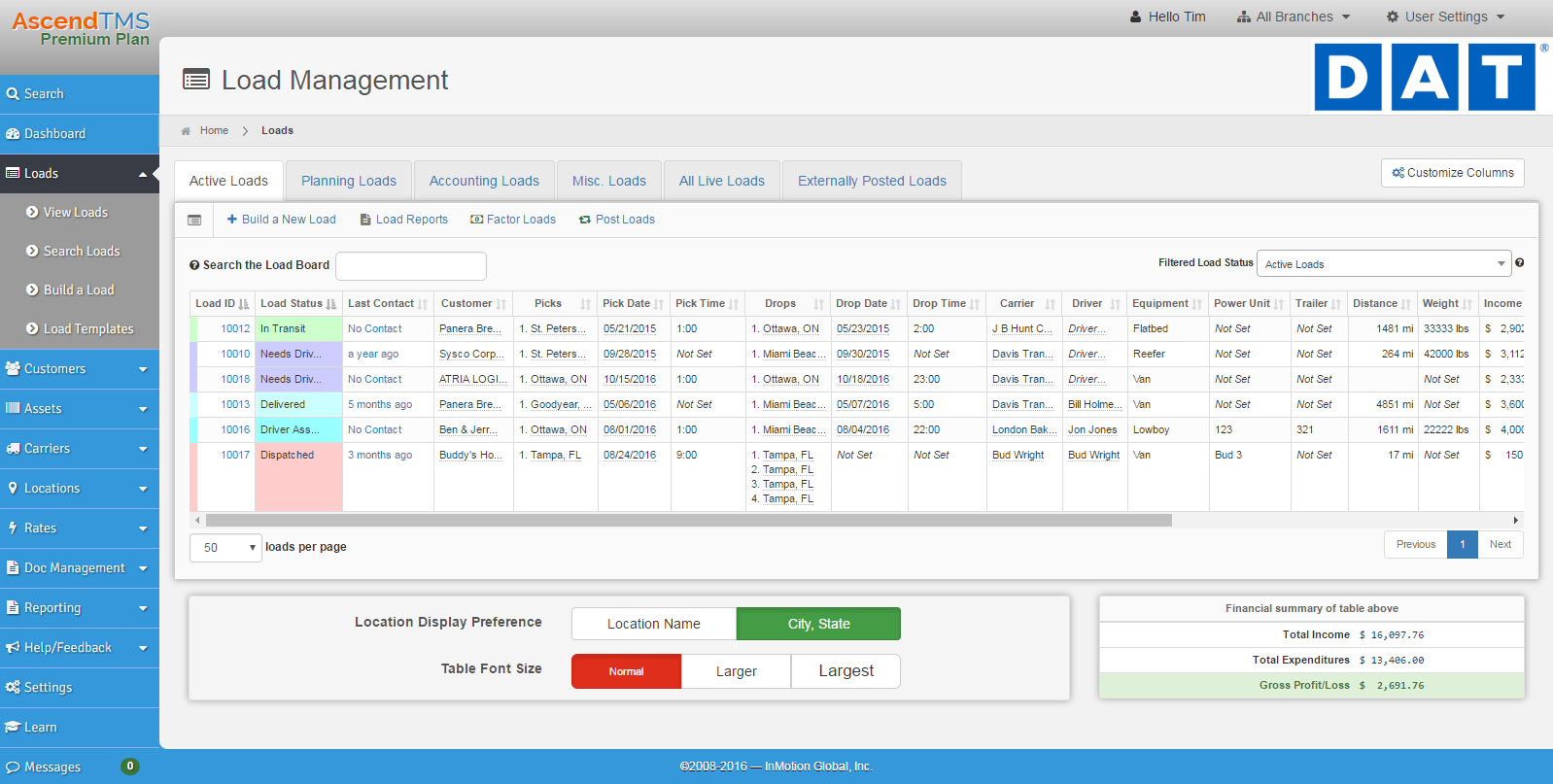 AscendTMS Demo - Intuitive Load Management - Works on ANY device or PC.
