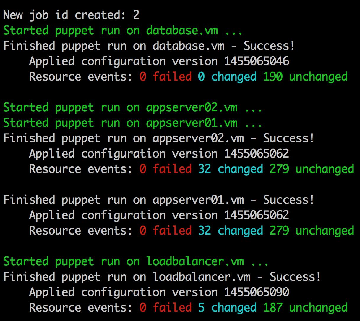 Puppet Enterprise Demo - Puppet Job CLI