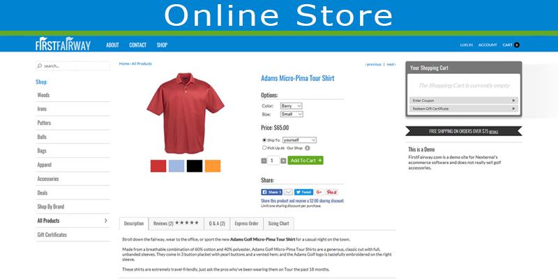 Nexternal eCommerce Platform Demo - Online Store