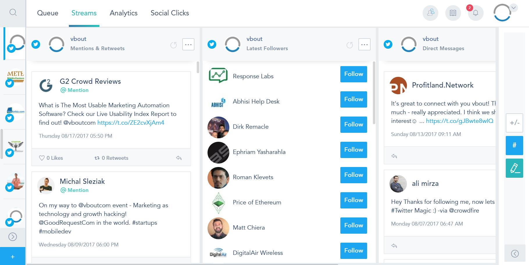 VBOUT Demo - Social Media Management Suite