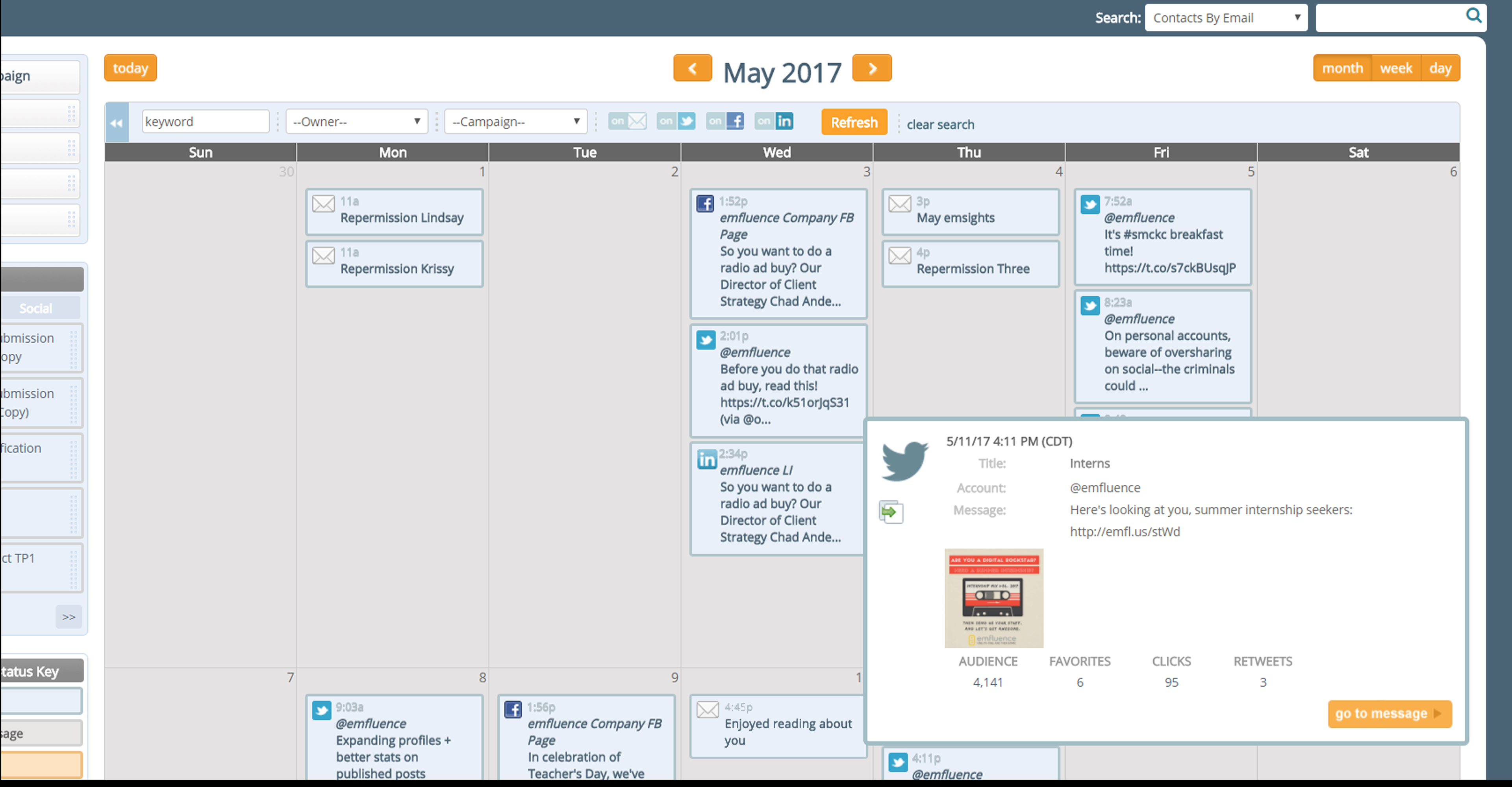 emfluence Marketing Platform Demo - Drag and Drop Marketing Calendar