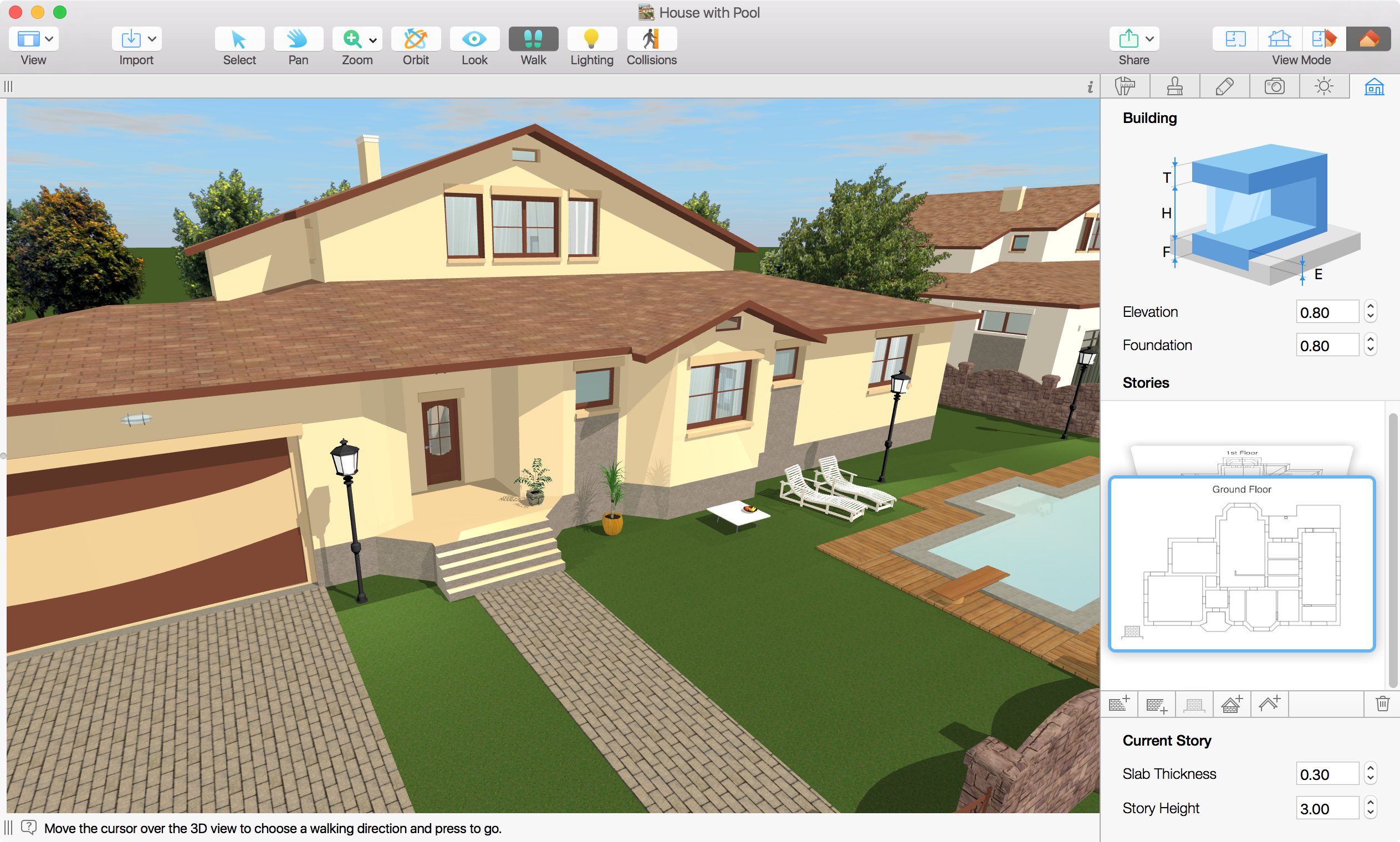 Live Home 3D Demo - Live Home 3D outside the house