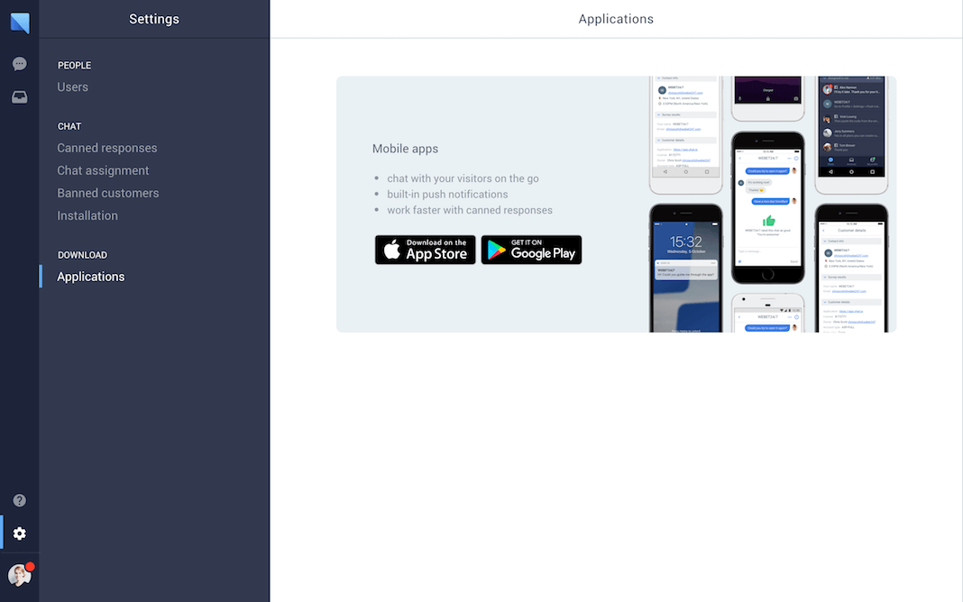 chat.io Demo - Mobile application