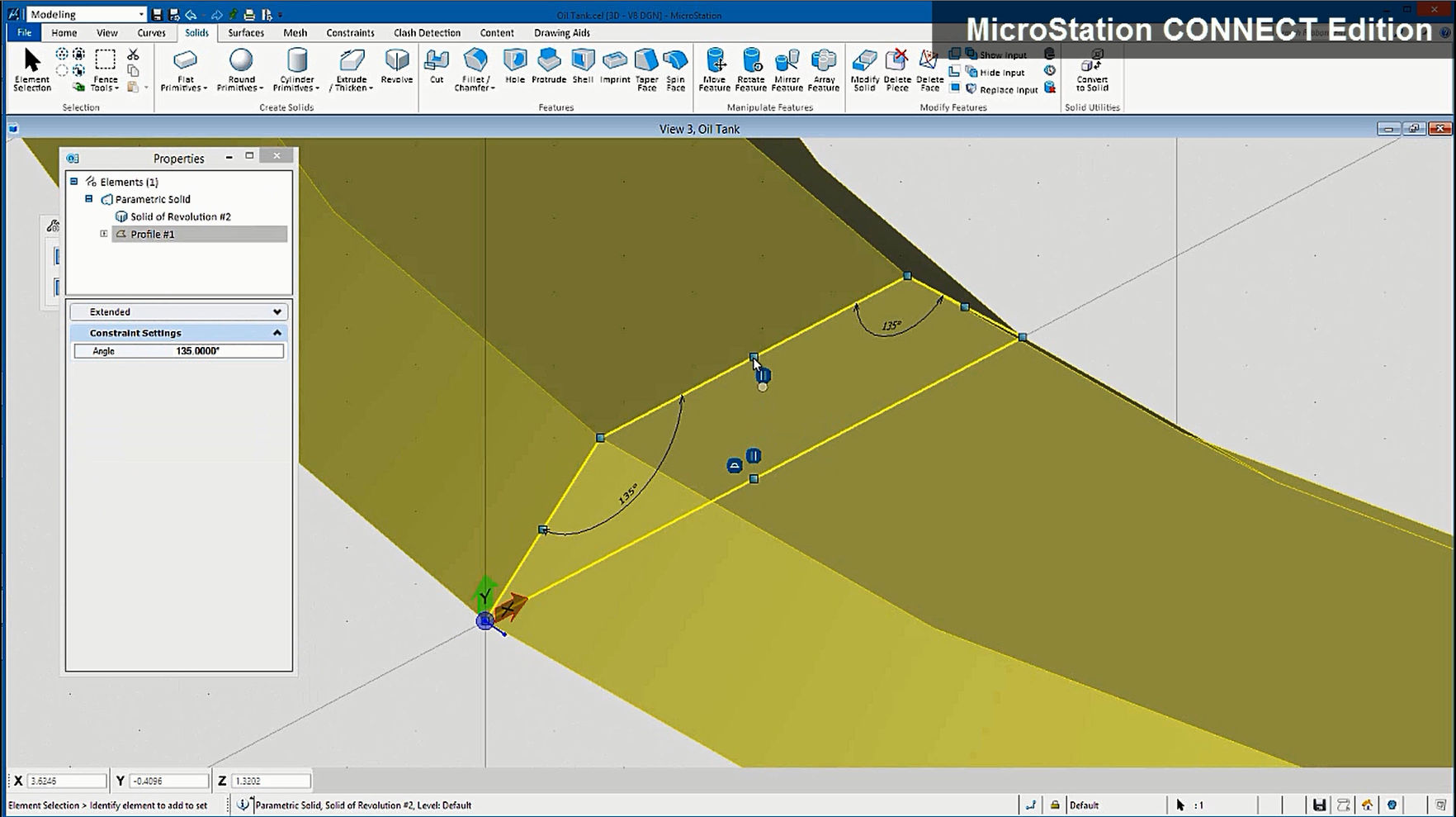 MicroStation Demo - Robust parametric constraints and comprehensive 3D modeling