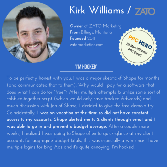 Shape Integrated Software Demo - Customer Testimonial from Kirk Williams