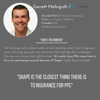 Shape Integrated Software Demo - Customer Testimonial from Garrett Mehrguth