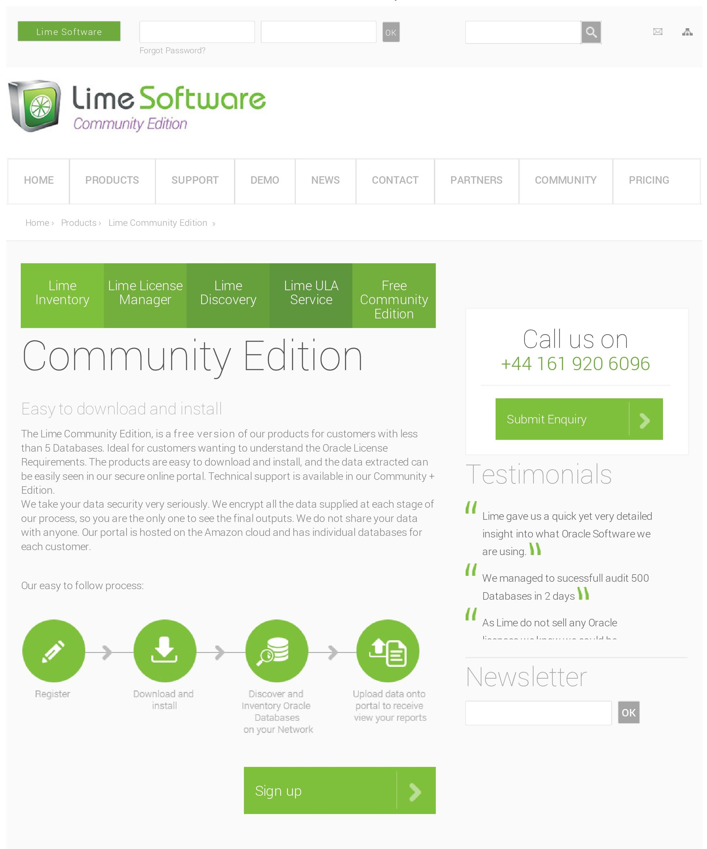 Lime Demo - Lime Software - Community Edition