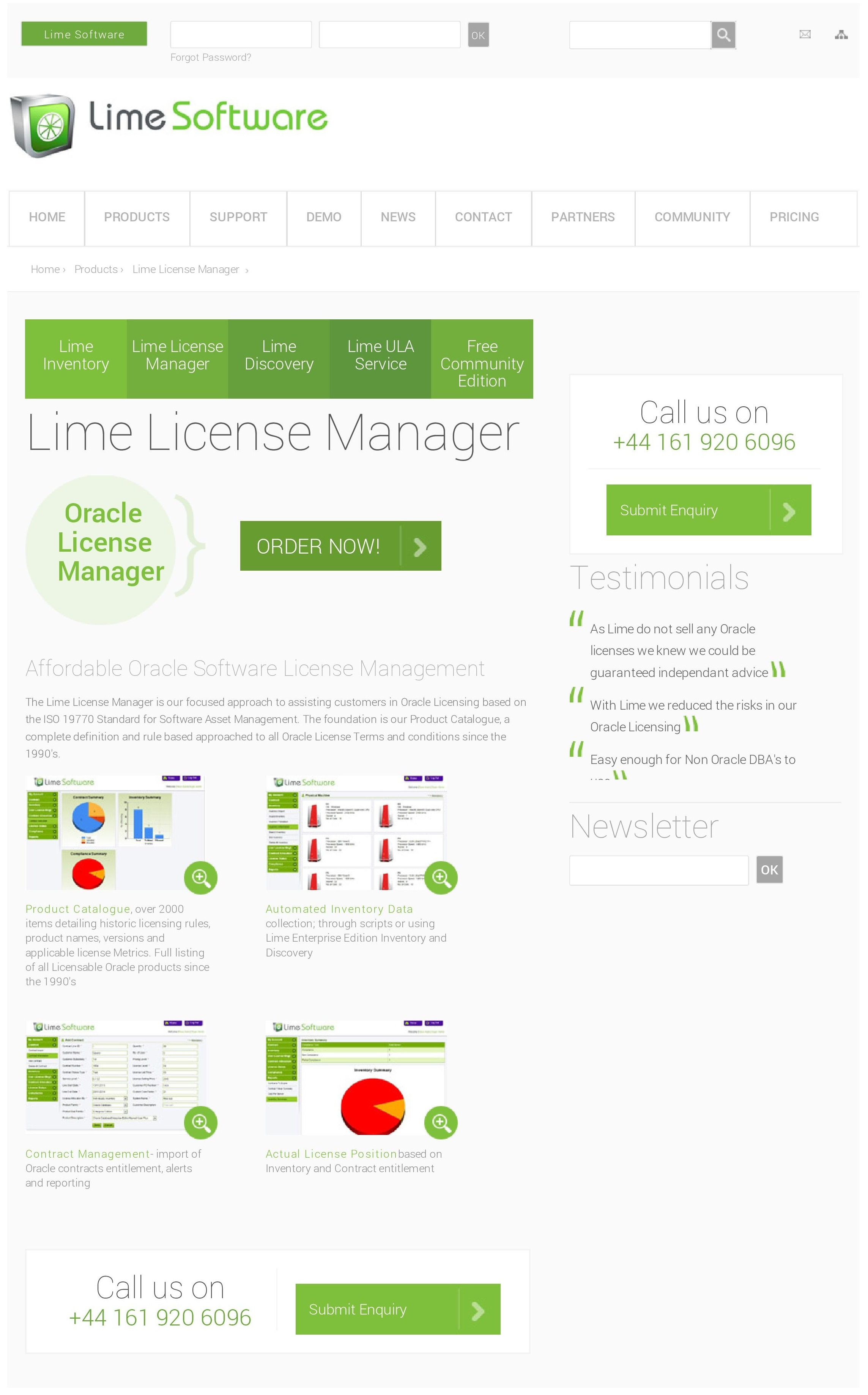 Lime Demo - Lime License Manager