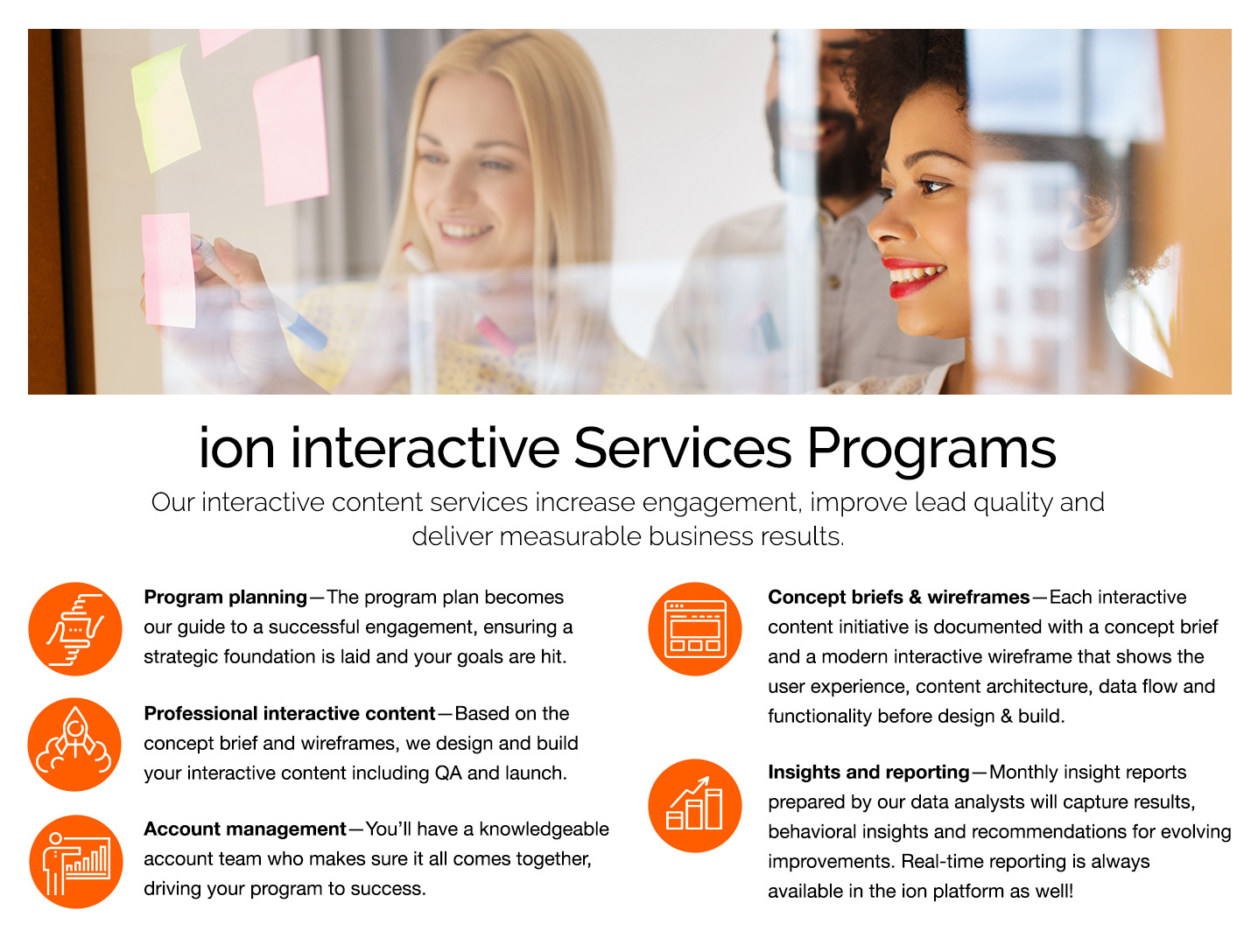 ion interactive Demo - ion's Services Programs