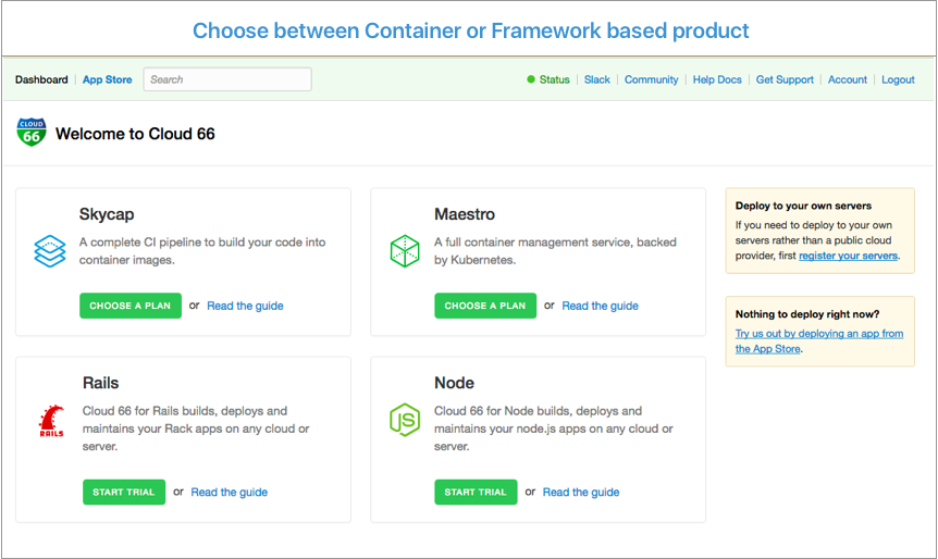 Cloud 66 for Containers Demo - Step 1: Welcome to Cloud 66