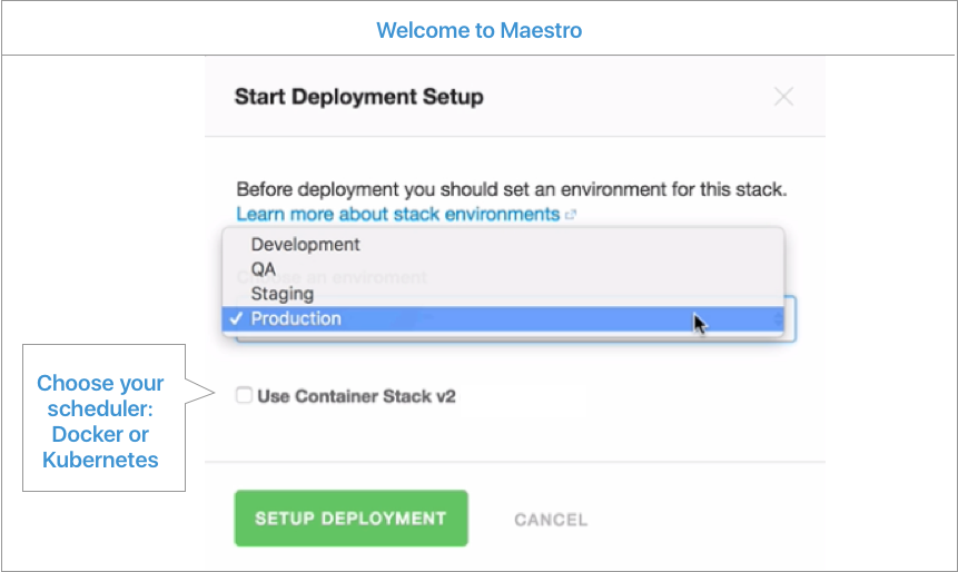 Cloud 66 for Containers Demo - Step 4: Welcome to Maestro - Full container management solution.